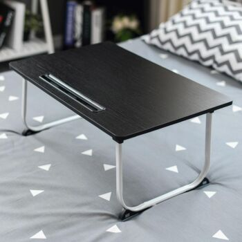 ZASS Laptop Bed Table Tray Laptop Bed Stand Portable Laptop Desk - Black
