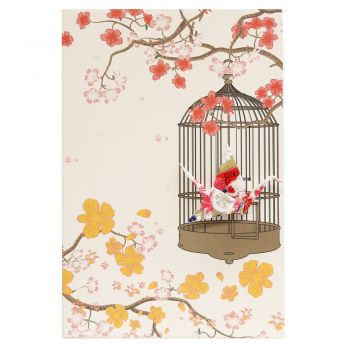 Card Crane in Cage Royal Gold