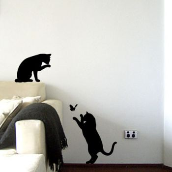 Le Chat Noir - Black Cat Wall Decal