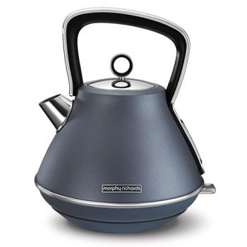Morphy Richards Evoke Pyramid Kettle Steel Blue - 100102