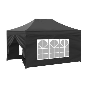 Mountview Pop Up Gazebo Outdoor Canopy 3x4.5M in Black Colour