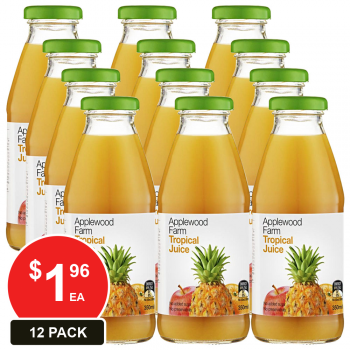 12 Pack, Applewood 350ml Tropical Juice