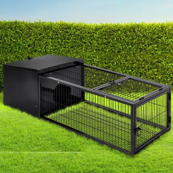 i.Pet Rabbit Cage Hutch 122CM Length Cages Indoor Outdoor Hamster Enclosure Pet Carrier