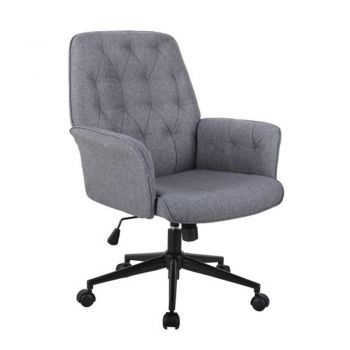Zia Premium Fabric Executive Office Chair - Grey