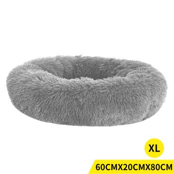 PaWz Soft Winter Cushion Pet Bed for Cats and Dogs XL in Grey