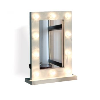 LED Lights Hollywood Vanity Mirror for Makeup in White