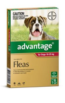 ADVANTAGE LARGE DOG 10-25KG 6PACK