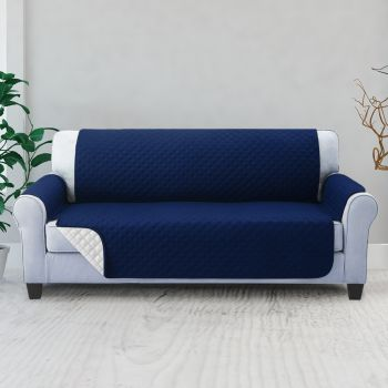 Artiss 1 2 3 Seater Sofa Cover Quilted Couch Covers Lounge Protector Slipcovers Navy