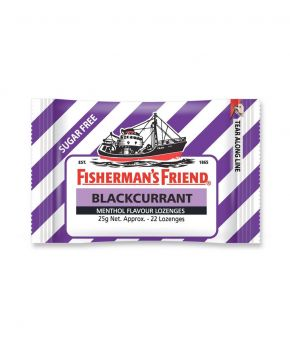 Fisherman's Friend Blackcurrant Sugar Free, 12 x 25g