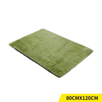 Designer Shaggy and Soft Home Decor Floor Rug 80x120cm in Green