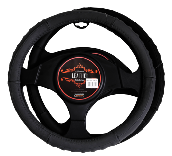 Denver Steering Wheel Cover - Black [Leather]