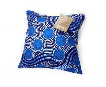 Cushion Aboriginal Design - Rivers Around Design - Stephen Hogarth