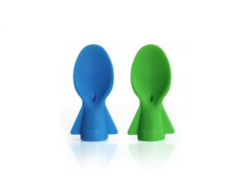 Universal Food Pouch Spoons 2 pack - Blue Green