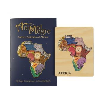 Animal Magic Africa Puzzle and Colouring Book combo!