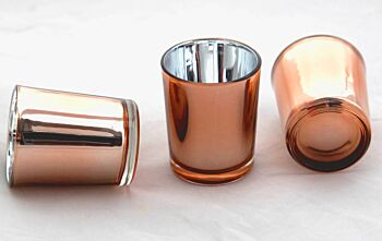 24 Pack - Copper Glass Tealight Votive Cup Candle Holder - Wedding Event Reception Function Home Table Decoration