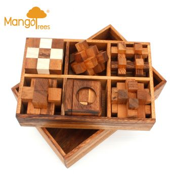 6 Puzzles Deluxe Gift Box Set #4