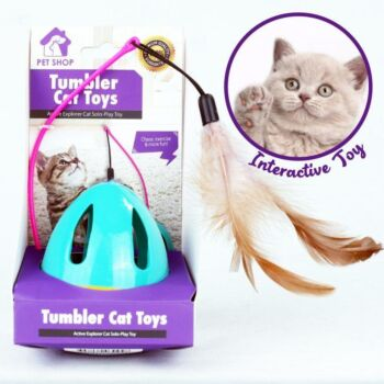 Pet Love Funny Tumbler Cat Feather Toys