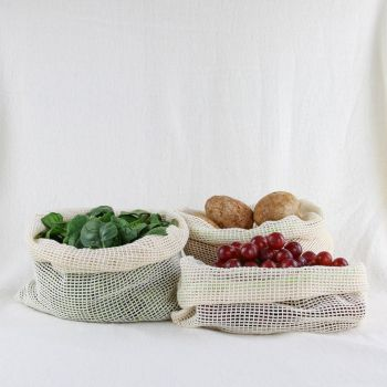REUSABLE PRODUCE BAGS | SET OF 3