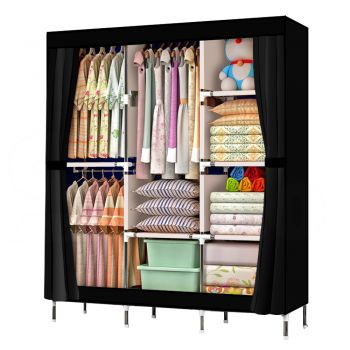 Large Portable Clothes Closet Wardrobe Storage Organizer with Shelves