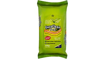 Eucoclean 2-in-1 Anti-Bacterial Hand & Surface Wipes 60 sheets x 5 packs per carton