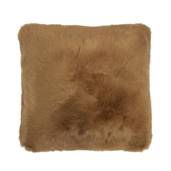 Faux Fur Cushion 50x50cm Butterscotch