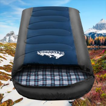 Weisshorn Sleeping Bag Bags Single Camping Hiking 20 degree to 10 degree Tent Winter Thermal Navy