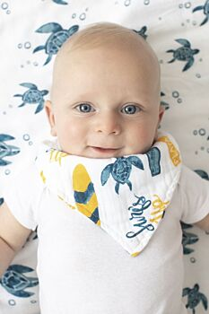 Surf Oh-So-Soft Muslin Bandana Bib
