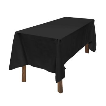 Fitted Wedding Tablecloth for Events in Black 10pcs
