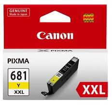 Canon CLI681XXL Yellow Ink Cartridge - Estimated Page Yield 760 pages - CLI681XXLY