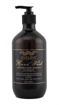 Euclove Handwash Lavender & Rose Geranium 500 ml Carton of 6 pieces