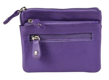 KCCP382 | Zippered Leather Coin Purse