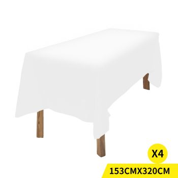 4x Fitted Tablecloth for Wedding and Events in White