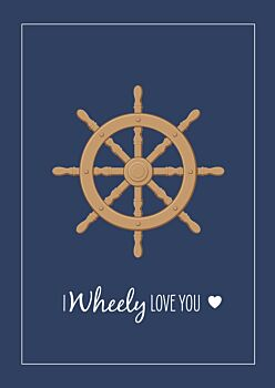 Lovers Card - Ships Wheel