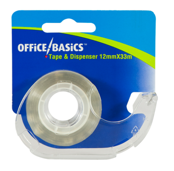 Sticky Tape with Dispenser 12 MM x 33 M - Pack of 12