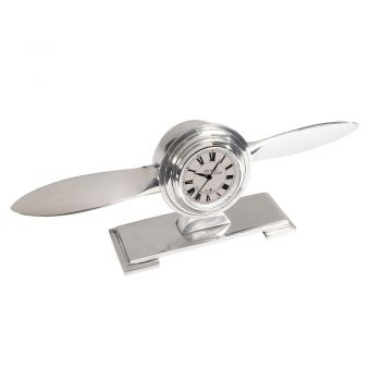 Propeller Mantle Clock - Aluminum