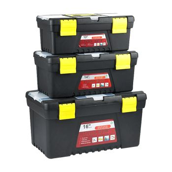 3Pc Garage Toolbox to Organise Tools for Storage