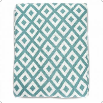 Luxury Cotton Throw 127x154cm Green diamond