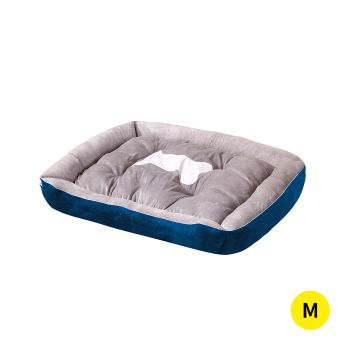 PaWz Pet Bed Bedding Cushion Soft Pad Medium in Navy