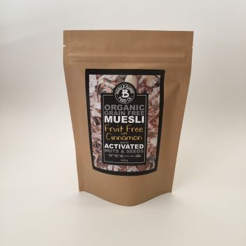 Organic Grain Free Muesli - Fruit Free with Cinnamon 200g (WS)