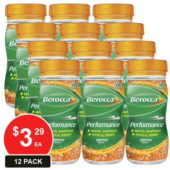 12 Pack, Berocca 250ml Twist & Go Orange
