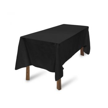 Tablecloths Wedding Tablecloth Rectangle Square Event Fitted Table Cloth Black