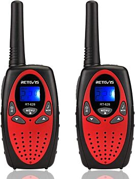 BOOC Retevis RT628 Kids Walkie Talkies 8 Channel FRS Toy for Kids Uhf FRS 2 Way Radio Toy(Red, 2 Pack)