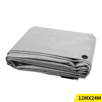 3.6x7.3M Heavy Duty PE Poly Tarps Camping Cover 200gsm