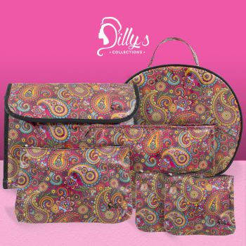 Retro Print Cosmetic Bag Set