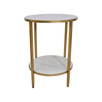 Chloe Side Table - Antique Gold