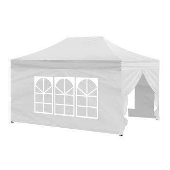 Mountview Pop Up Gazebo Outdoor Canopy 3x4.5M in White Colour