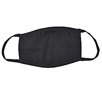 Black Cotton Reusable Face Masks - 100 pieces