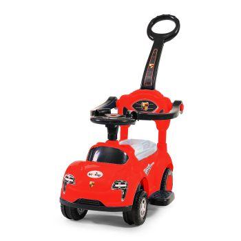 BoPeep 4 in 1 Baby Push Cars for Tiny Walkers in Red Colour