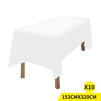 Fitted Wedding Tablecloth for Events in White 10pcs