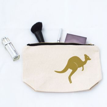 Kangaroo Makeup Bag